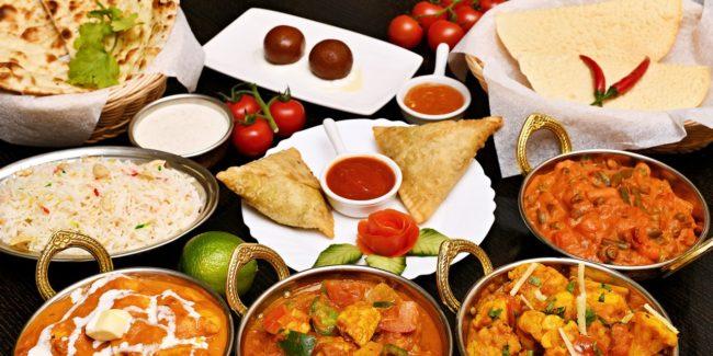 Many foods together